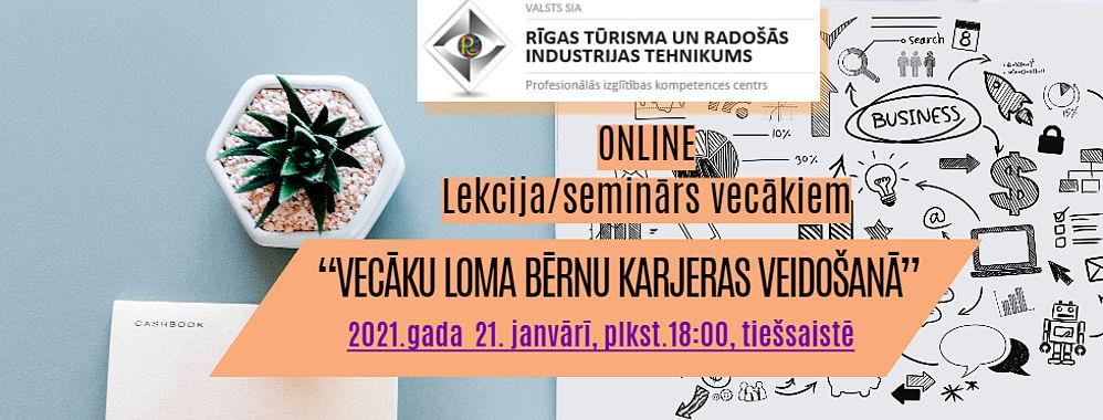 """Tiešsaistes lekcija/seminārs VECĀKIEM """"Vecāku loma bērnu karjeras veidošanā"""""""